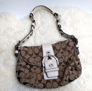 Coach Hobo Bag Brown Classic Print Shoulder VTG
